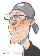 schnellzeichner daniel stieglitz kassel messezeichner iPad caricaturist live event karikaturist messe plentymarkets 00016