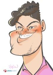 schnellzeichner daniel stieglitz kassel messezeichner iPad caricaturist live event karikaturist messe plentymarkets 00026