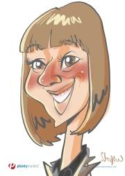 schnellzeichner daniel stieglitz kassel messezeichner iPad caricaturist live event karikaturist messe plentymarkets 00039