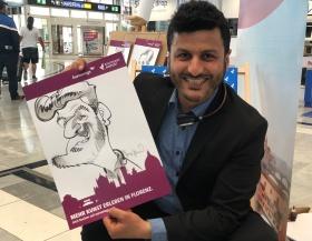 schnellzeichner daniel stieglitz messezeichner caricaturist live event karikaturist eurowings stuttgart airport caricaturist 00019