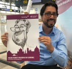 schnellzeichner daniel stieglitz messezeichner caricaturist live event karikaturist eurowings stuttgart airport caricaturist 00020