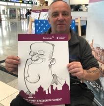 schnellzeichner daniel stieglitz messezeichner caricaturist live event karikaturist eurowings stuttgart airport caricaturist 00021