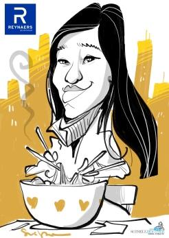 schnellzeichner daniel stieglitz münchen iPad caricaturist live event karikaturist firmenfeier 00075