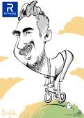 schnellzeichner daniel stieglitz münchen iPad caricaturist live event karikaturist firmenfeier 00101