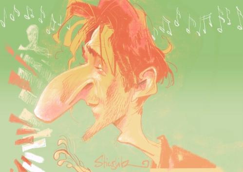 Adrien Brody Karikatur Caricature Caricatura by Schnellzeichner Daniel Stieglitz