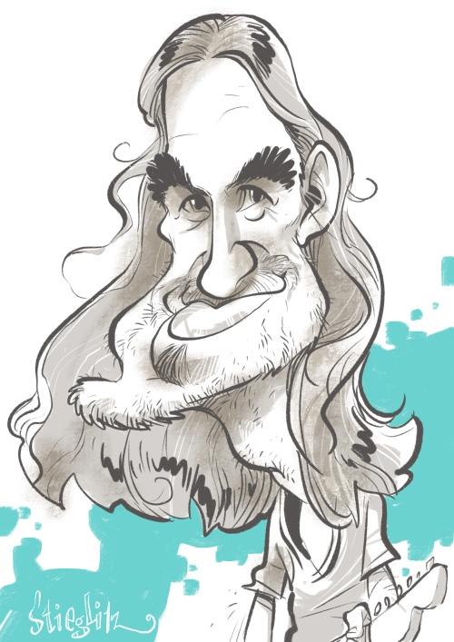 Christian Neander selig band Karikatur Caricature Caricatura by Schnellzeichner Daniel Stieglitz