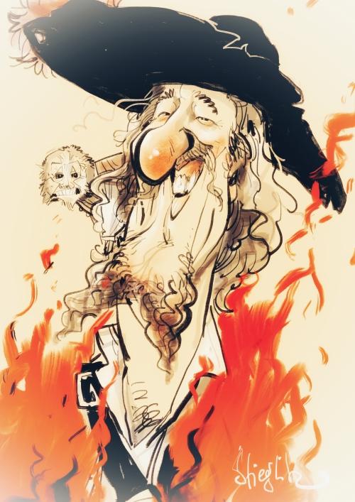 Geoffrey Rush Karikatur Caricature Caricatura by Schnellzeichner Daniel Stieglitz