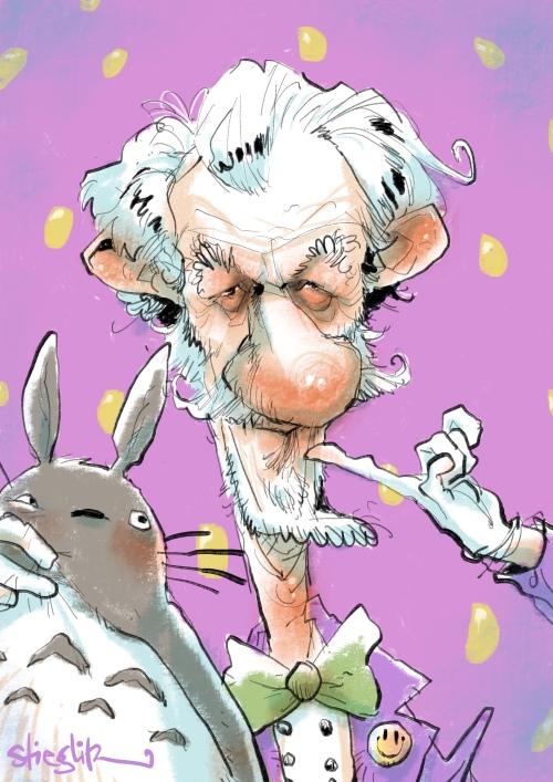 Sir Ian Murray McKellen Gandalf Karikatur Caricature Caricatura by Schnellzeichner Daniel Stieglitz