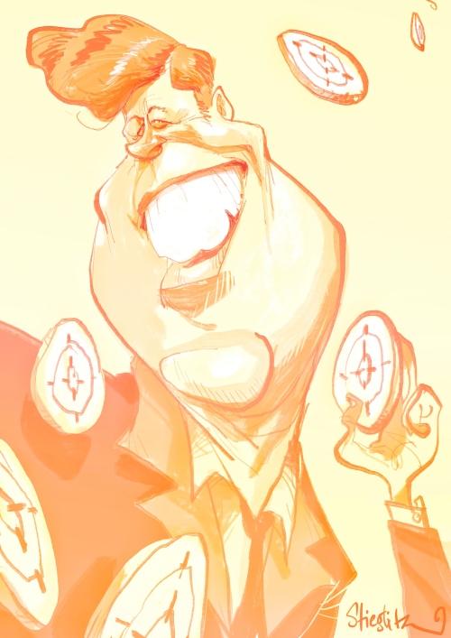 John Jack F Kennedy JFK Karikatur Caricature Caricatura by Schnellzeichner Daniel Stieglitz