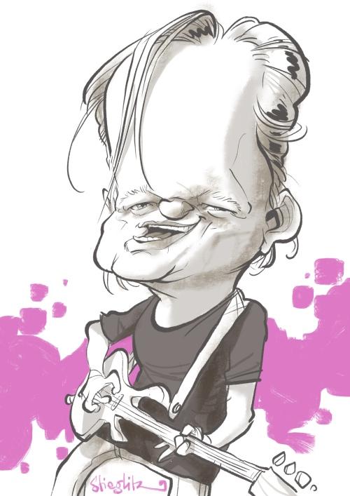 Lenard Leo Schmidthals selig band Karikatur Caricature Caricatura by Schnellzeichner Daniel Stieglitz