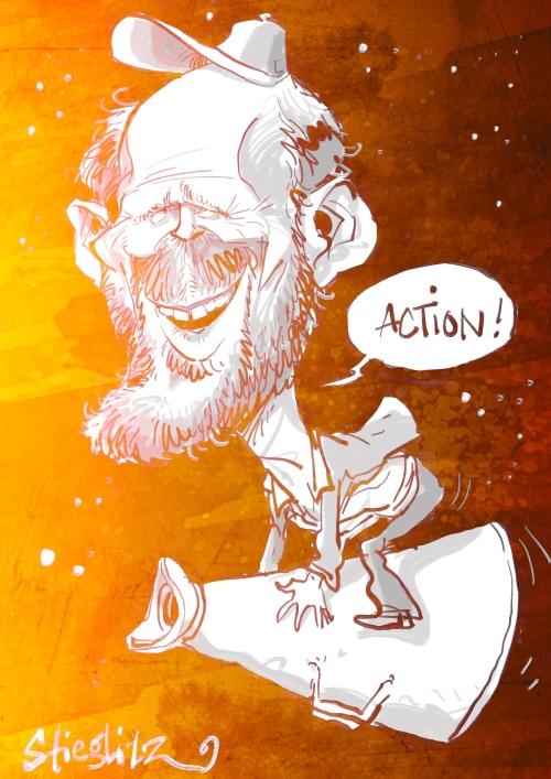 Ronald William Howard Karikatur Caricature Caricatura by Schnellzeichner Daniel Stieglitz