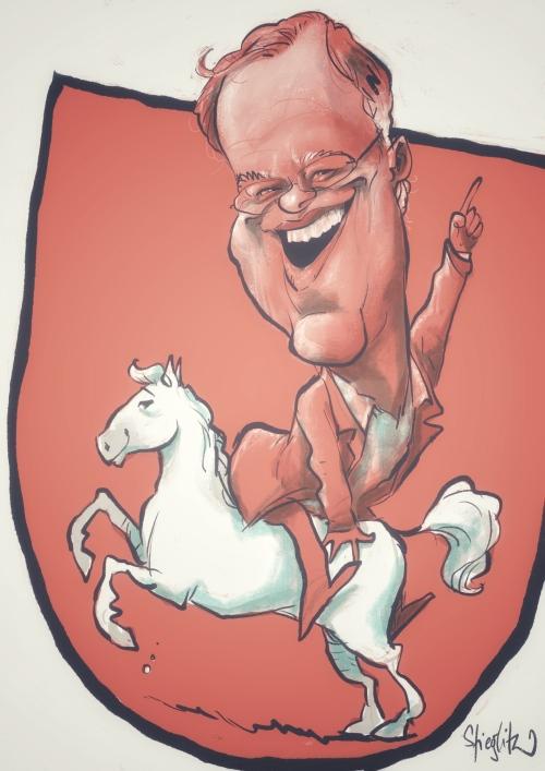 Stephan Peter Weil Karikatur Caricature Caricatura by Schnellzeichner Daniel Stieglitz