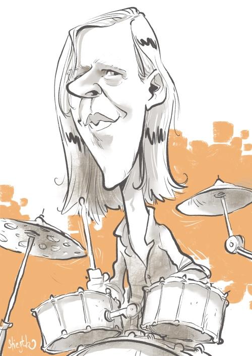 Stephan Stoppel Eggert selig band Karikatur Caricature Caricatura by Schnellzeichner Daniel Stieglitz